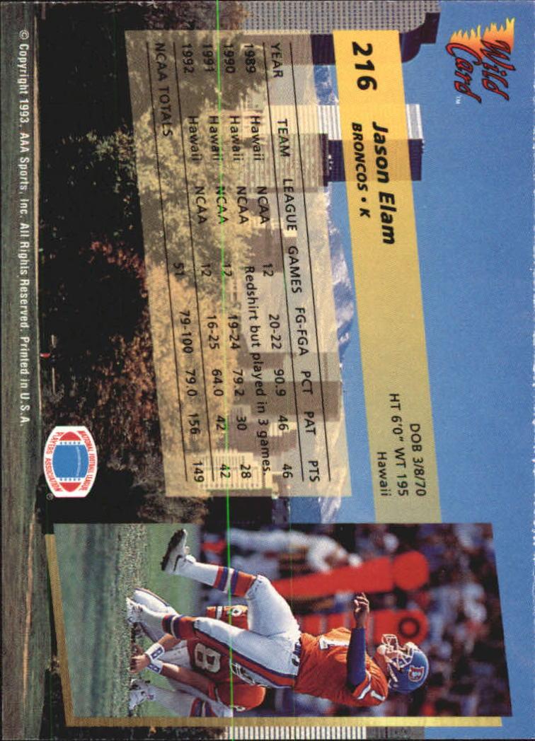 1993-Wild-Card-Superchrome-Football-Card-Pick-103-260 thumbnail 215