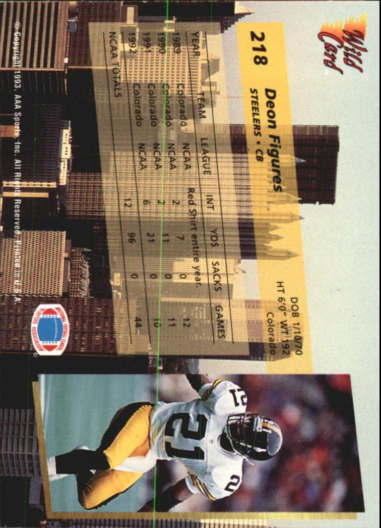 1993-Wild-Card-Superchrome-Football-Card-Pick-103-260 thumbnail 219
