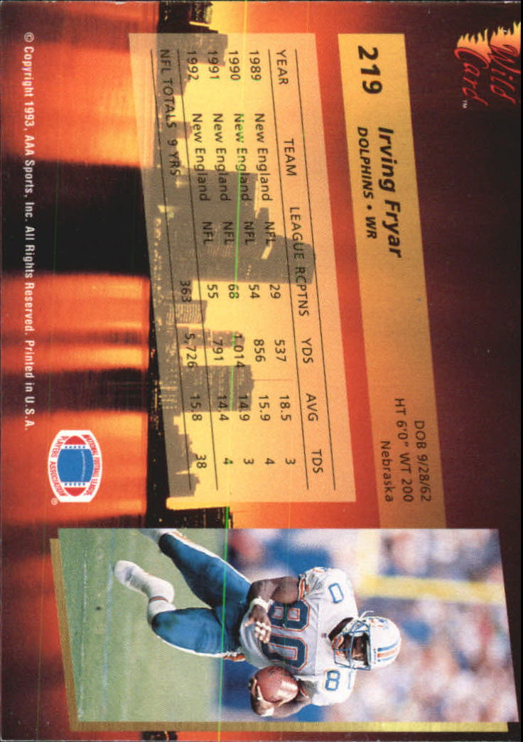 1993-Wild-Card-Superchrome-Football-Card-Pick-103-260 thumbnail 221