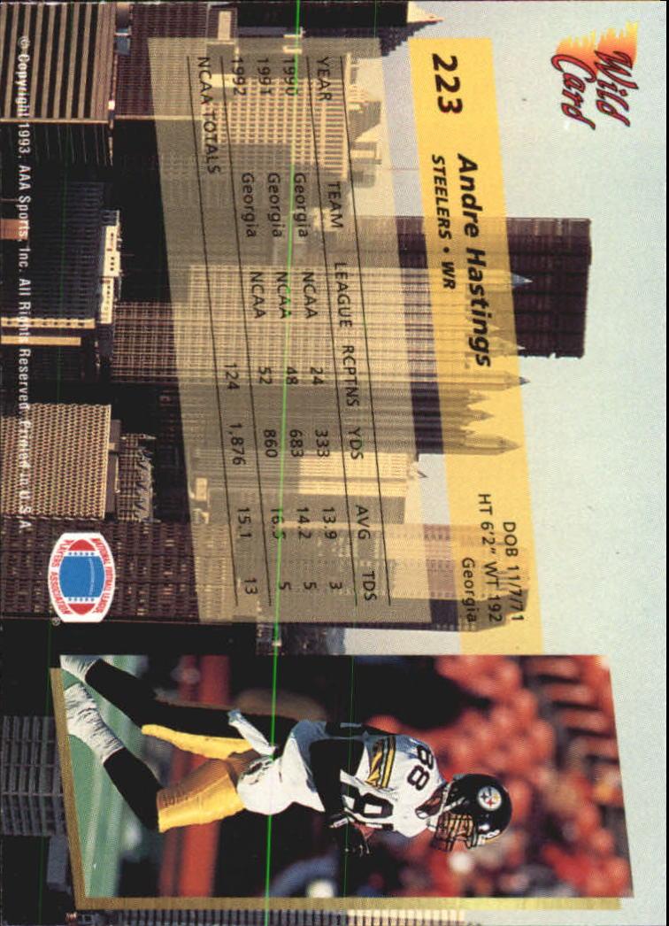 1993-Wild-Card-Superchrome-Football-Card-Pick-103-260 thumbnail 229