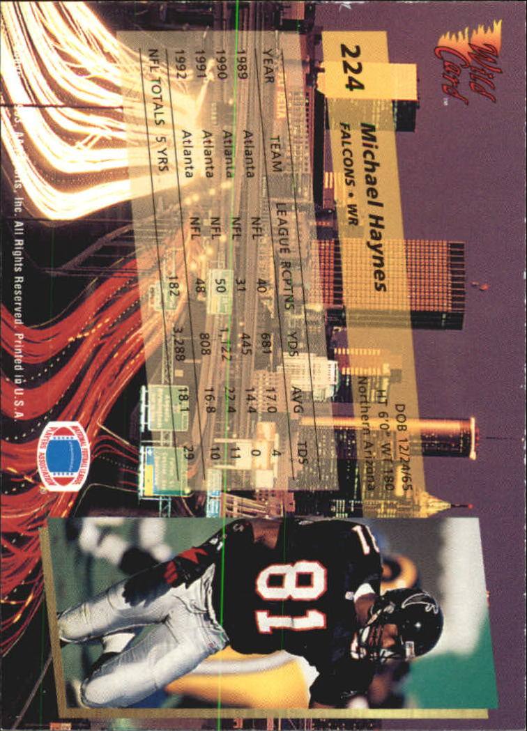 1993-Wild-Card-Superchrome-Football-Card-Pick-103-260 thumbnail 231