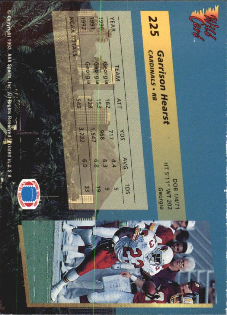 1993-Wild-Card-Superchrome-Football-Card-Pick-103-260 thumbnail 233