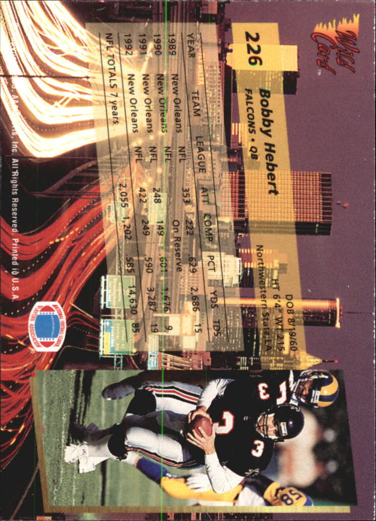 1993-Wild-Card-Superchrome-Football-Card-Pick-103-260 thumbnail 235