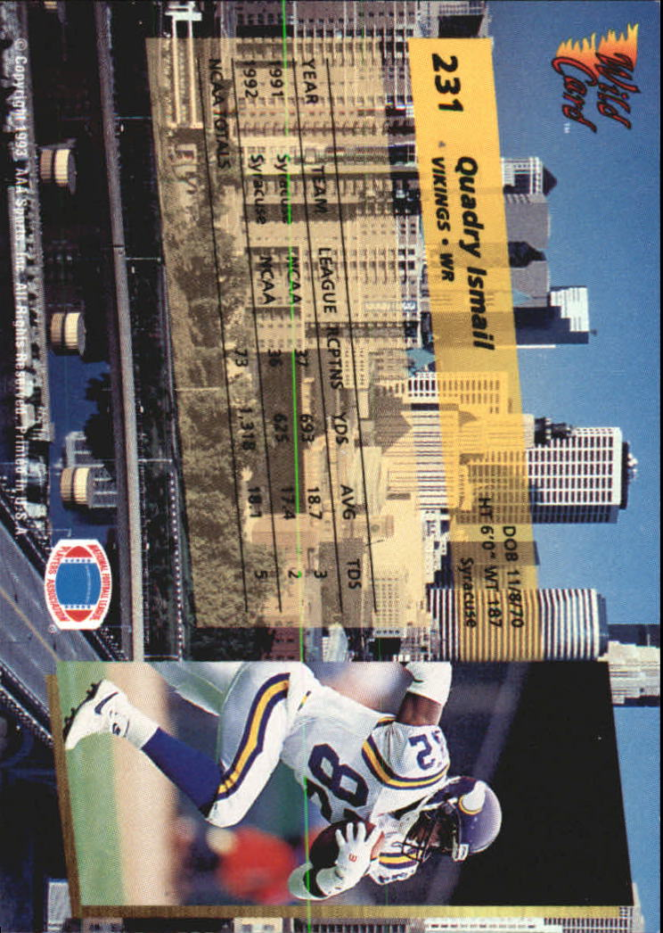 1993-Wild-Card-Superchrome-Football-Card-Pick-103-260 thumbnail 245