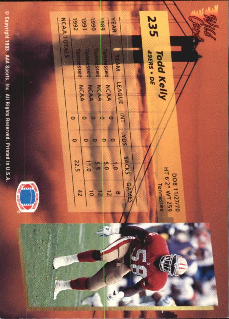 1993-Wild-Card-Superchrome-Football-Card-Pick-103-260 thumbnail 251