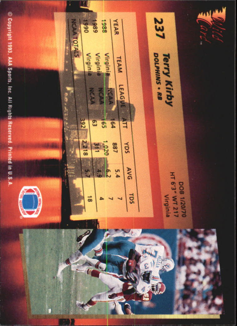 1993-Wild-Card-Superchrome-Football-Card-Pick-103-260 thumbnail 255
