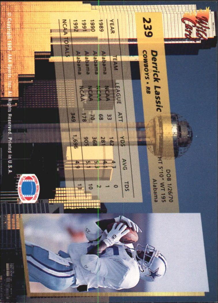 1993-Wild-Card-Superchrome-Football-Card-Pick-103-260 thumbnail 257