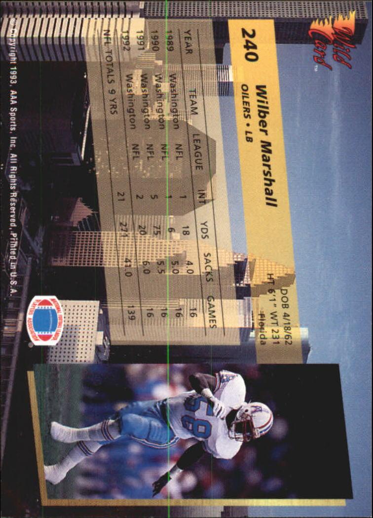 1993-Wild-Card-Superchrome-Football-Card-Pick-103-260 thumbnail 259