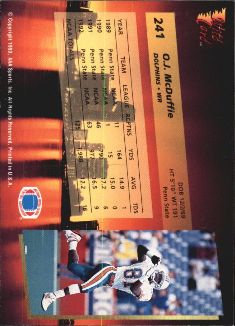 1993-Wild-Card-Superchrome-Football-Card-Pick-103-260 thumbnail 261