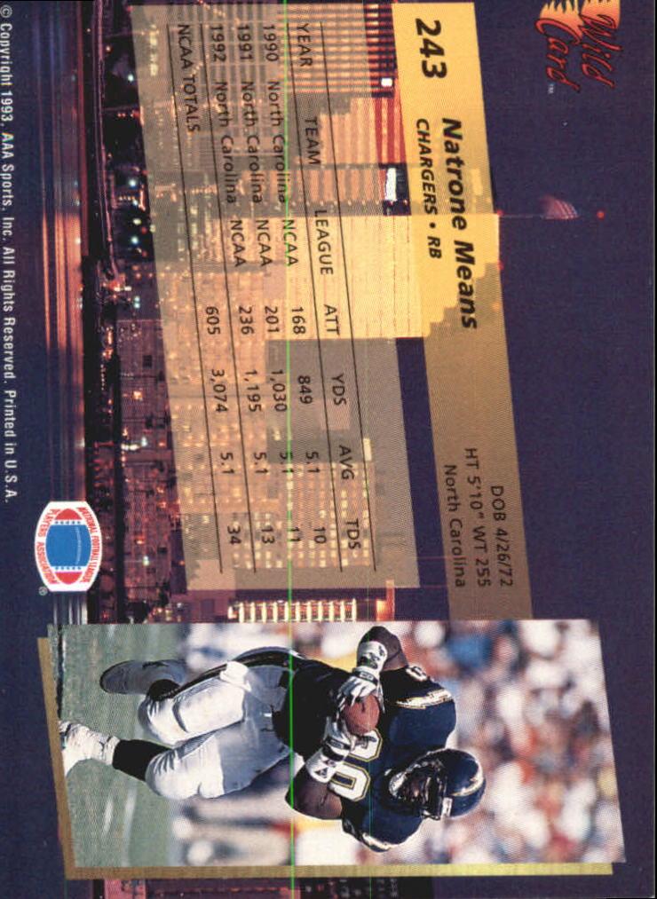1993-Wild-Card-Superchrome-Football-Card-Pick-103-260 thumbnail 265