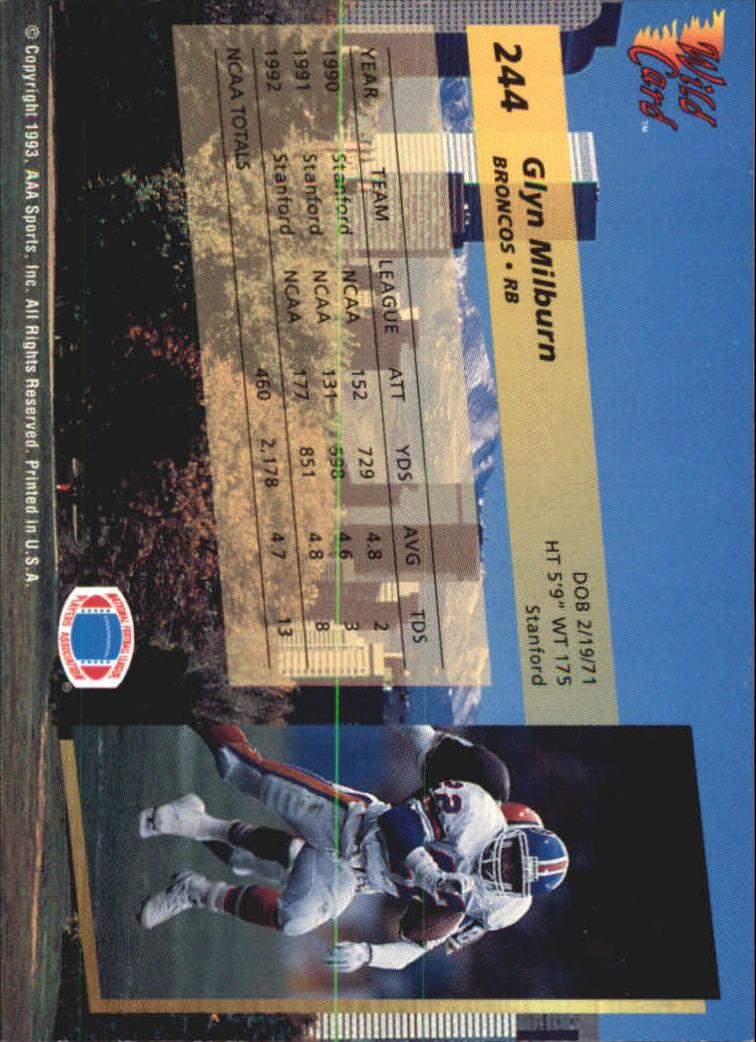 1993-Wild-Card-Superchrome-Football-Card-Pick-103-260 thumbnail 267