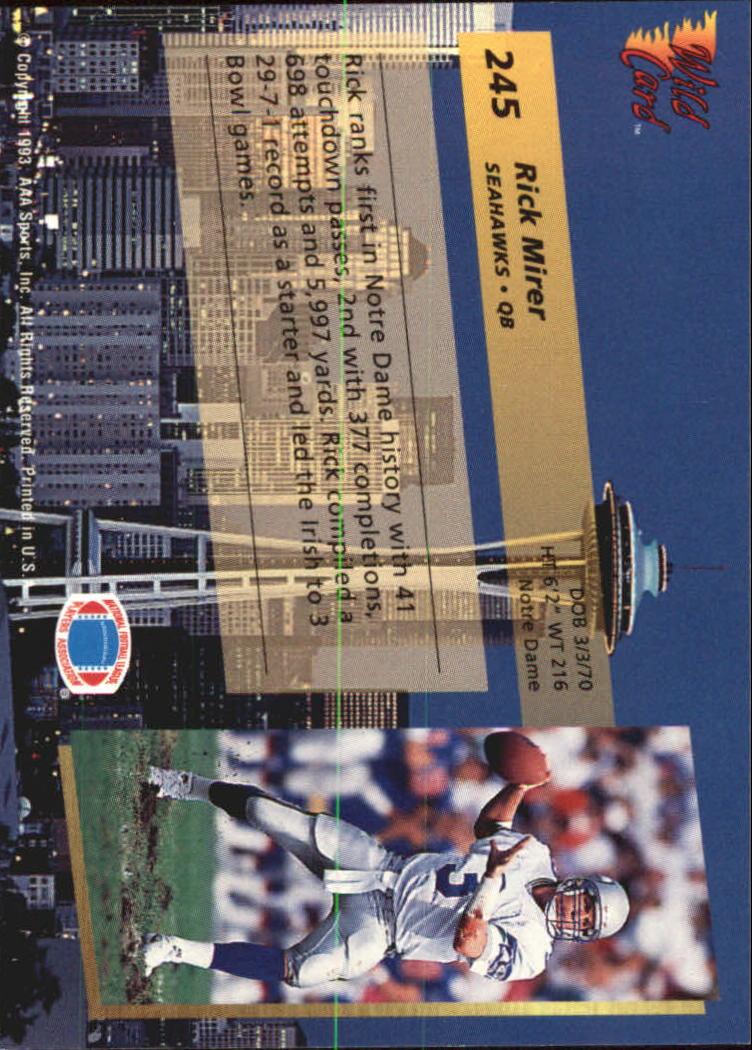 1993-Wild-Card-Superchrome-Football-Card-Pick-103-260 thumbnail 269