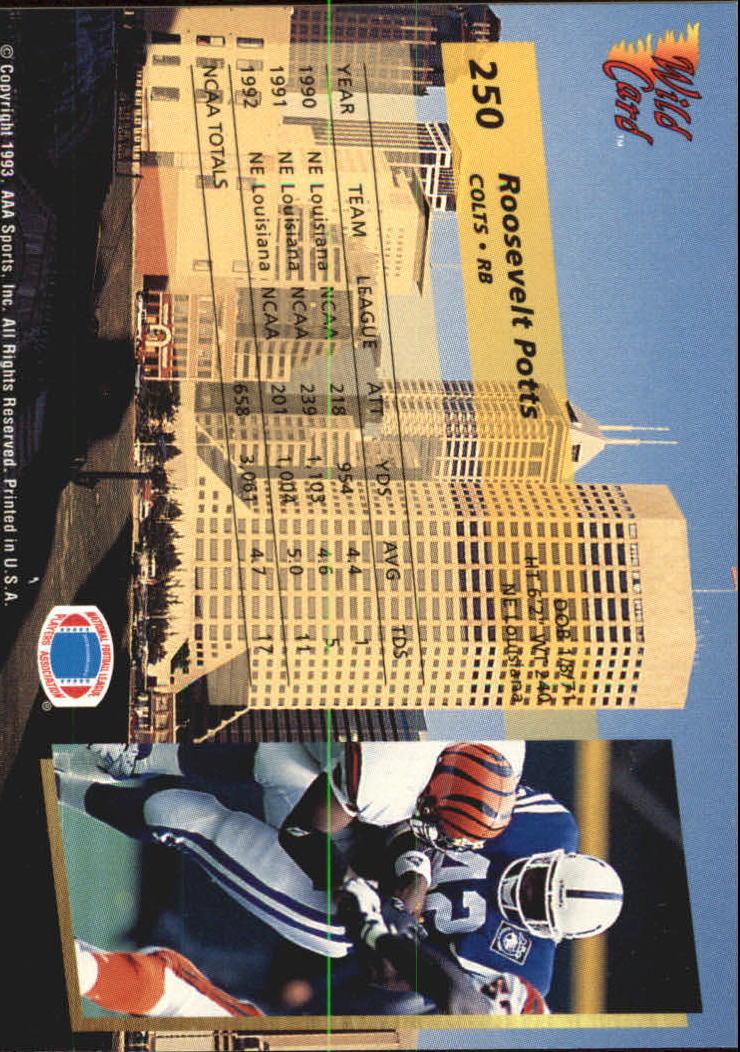 1993-Wild-Card-Superchrome-Football-Card-Pick-103-260 thumbnail 277