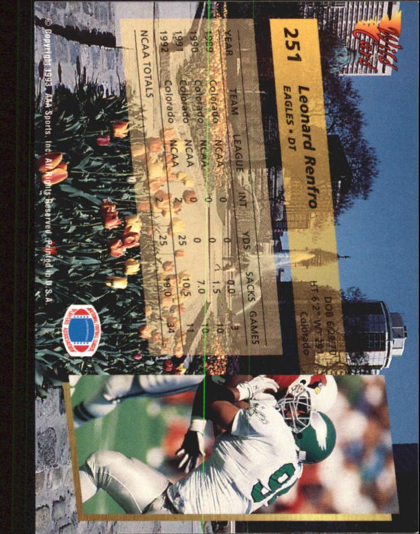 1993-Wild-Card-Superchrome-Football-Card-Pick-103-260 thumbnail 279