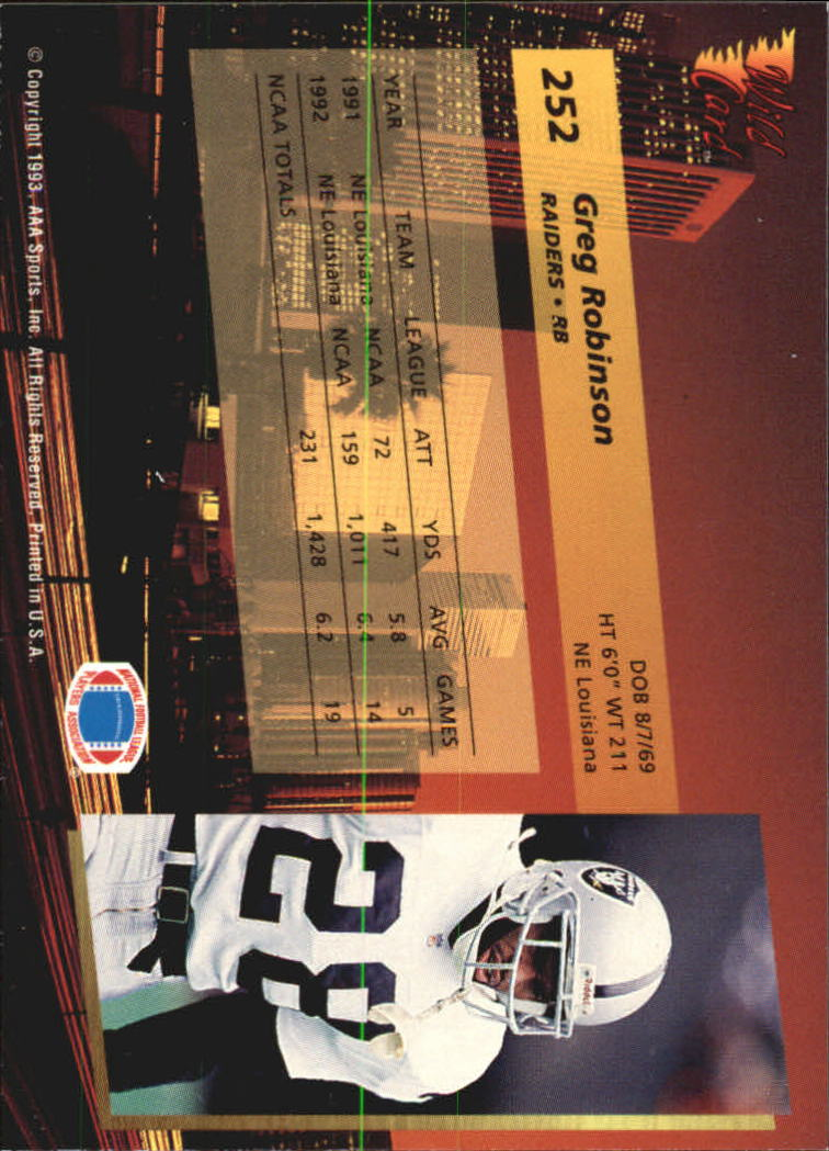 1993-Wild-Card-Superchrome-Football-Card-Pick-103-260 thumbnail 281