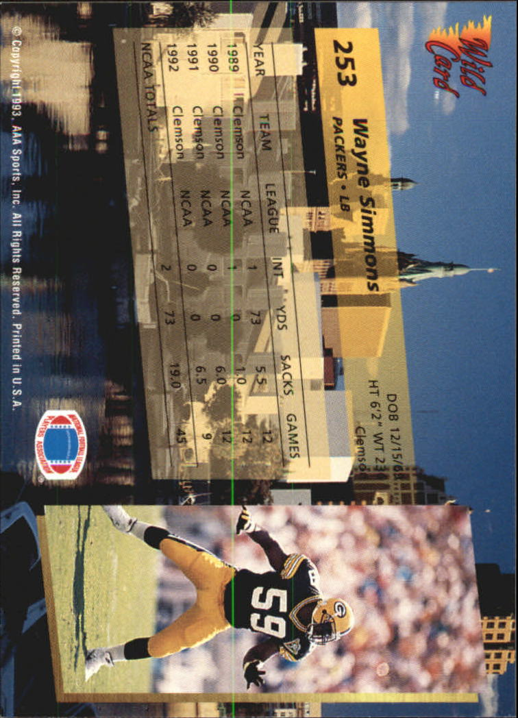 1993-Wild-Card-Superchrome-Football-Card-Pick-103-260 thumbnail 283