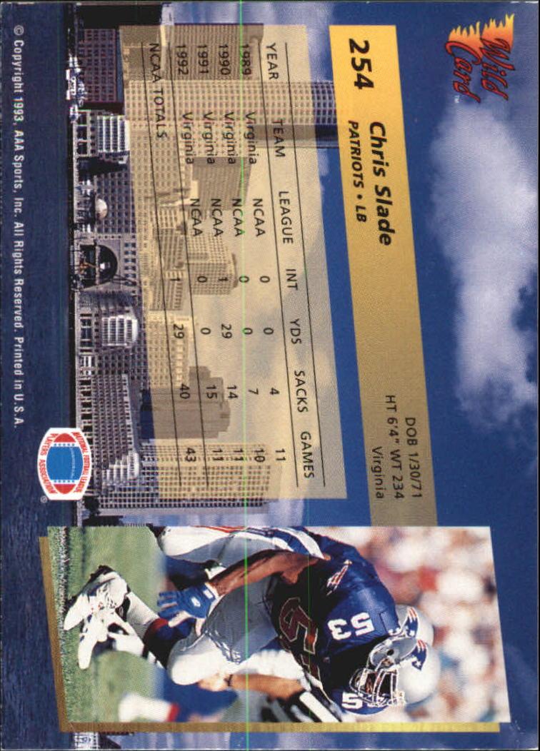 1993-Wild-Card-Superchrome-Football-Card-Pick-103-260 thumbnail 285