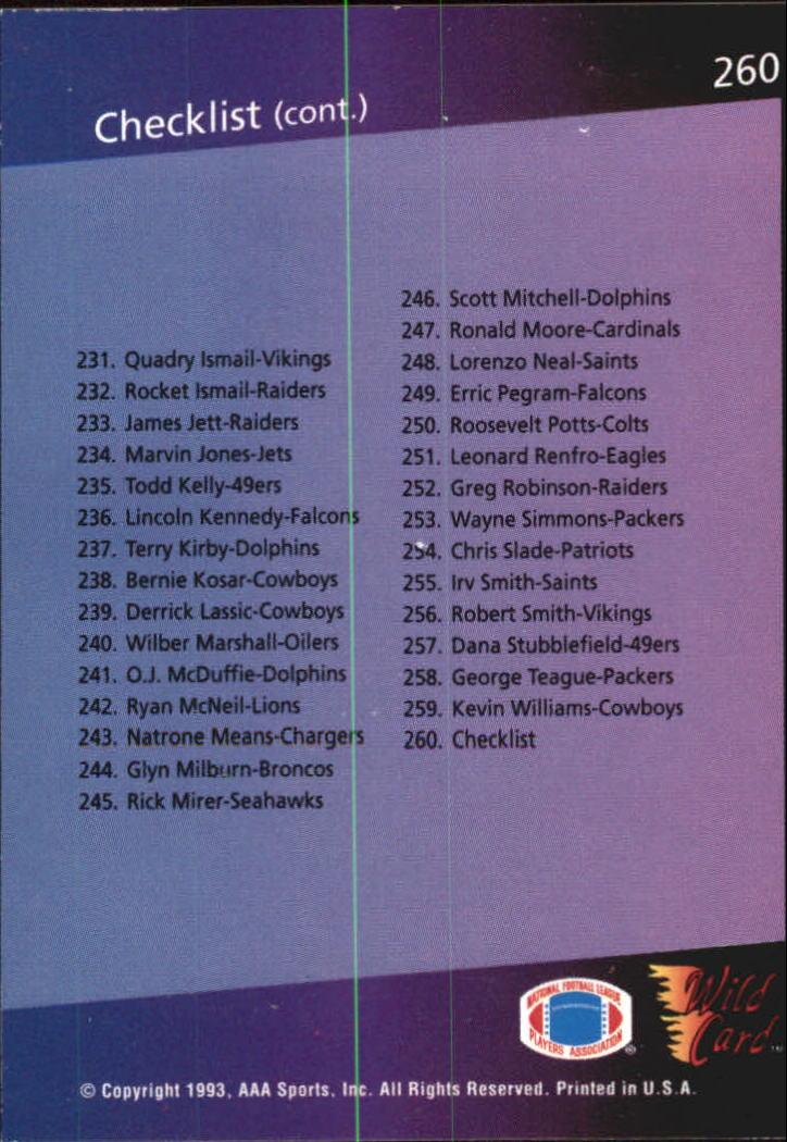 1993-Wild-Card-Superchrome-Football-Card-Pick-103-260 thumbnail 297