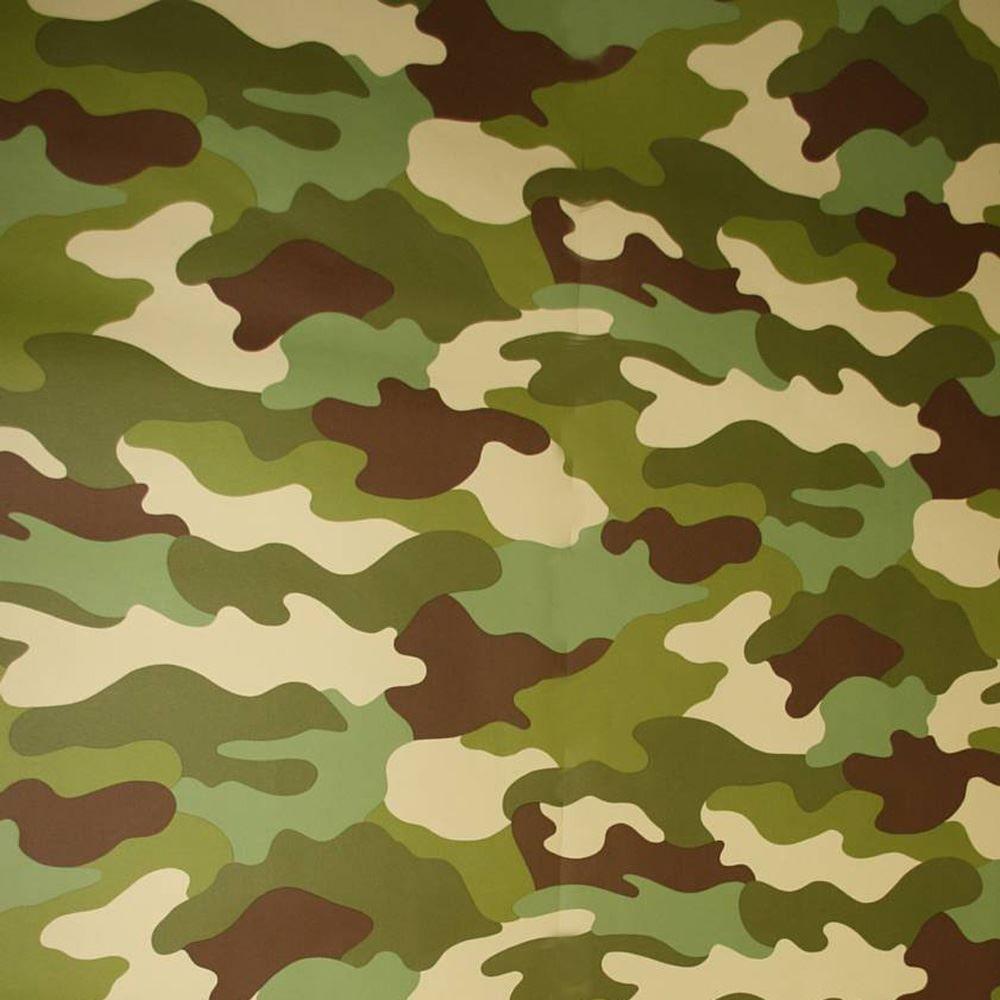 Camouflage wallpaper 10m khaki green grey black army for Khaki green walls