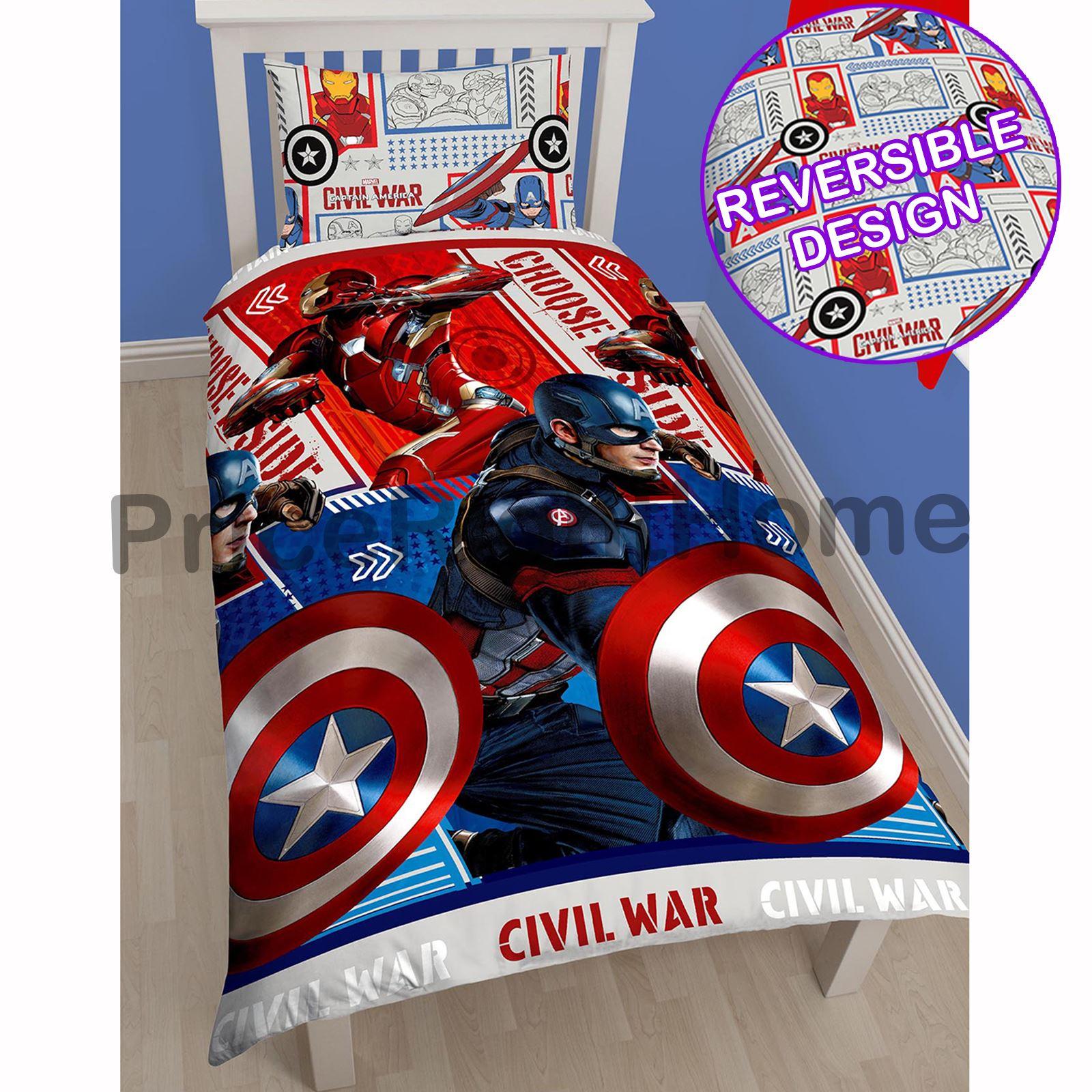 personnage-et-a-theme-housse-couette-simple-enfants-Literie-Ensembles-Avengers