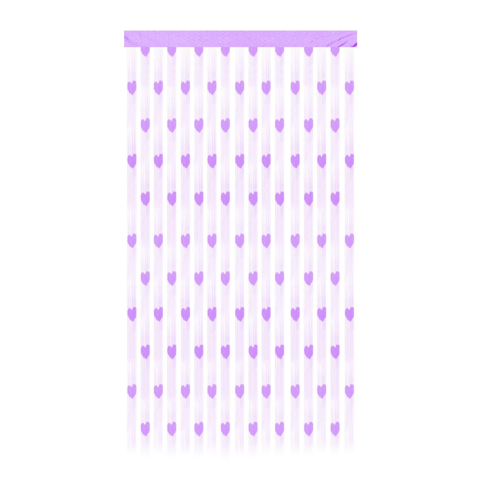 herzfoermig-Tuer-Fenster-Wandbehang-Schnur-Vorhang-Netz-suess-Kinder-Schlafzimmer