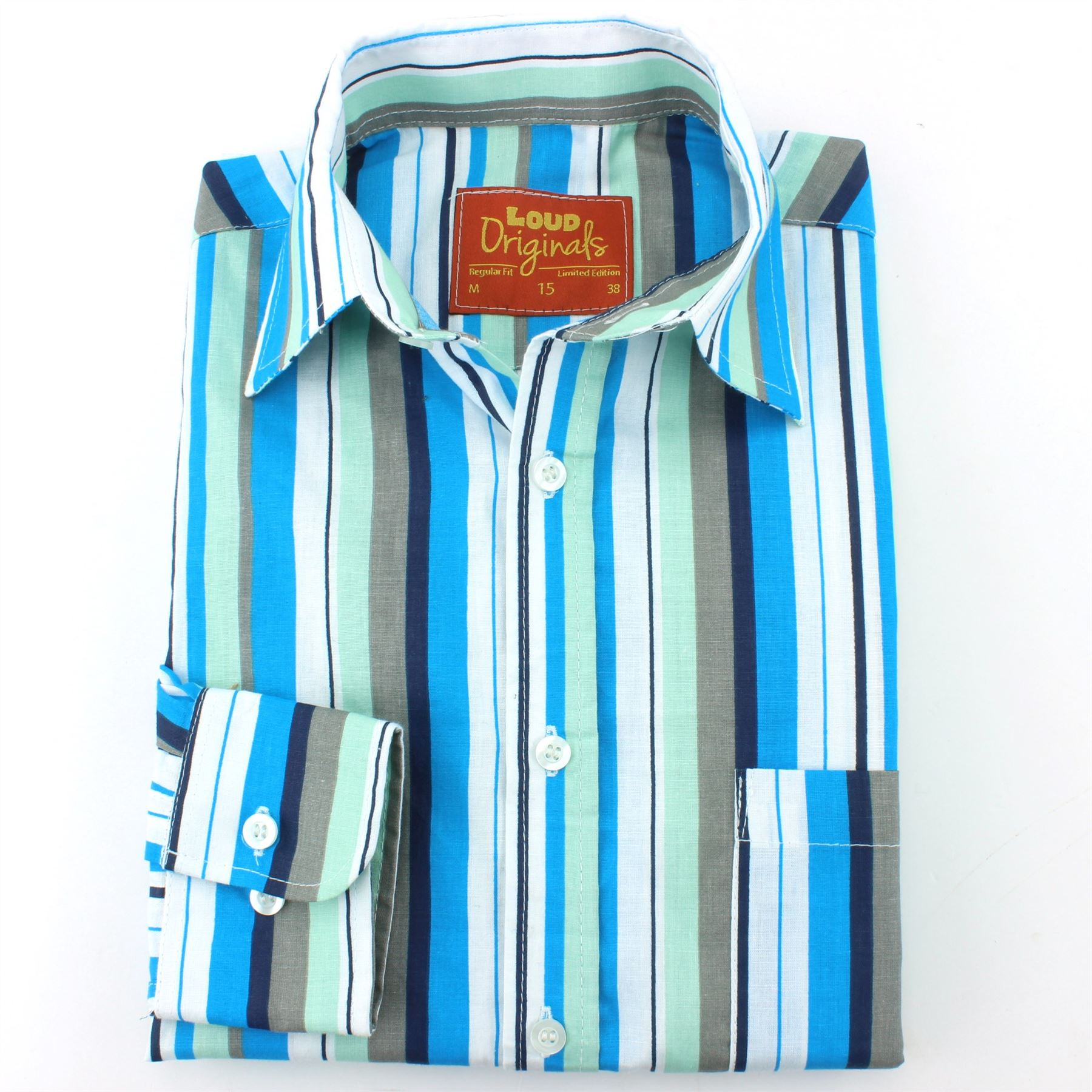 Uomo Loud Da Regular Bayadere Rétro Righe Originals Camicia Psichedelico gAqnSn