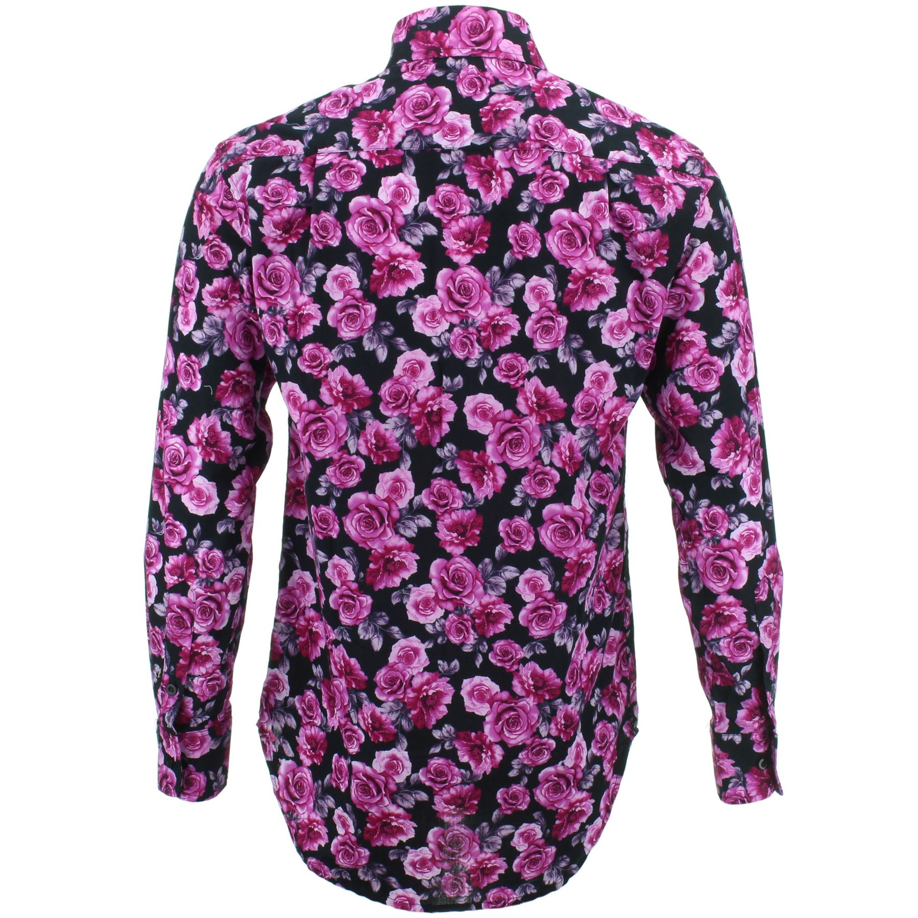 Originelen Fit Luid Floral Heren Retro Roses Regular Fancy Shirt Psychedelic EIwH6qB