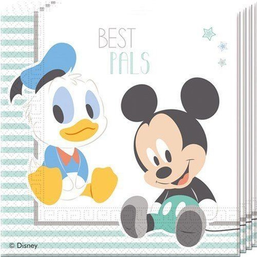 Disney Baby Mickey Mouse 1st Birthday Baby Shower Tableware Party