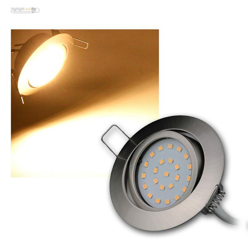 Led-Spot-Encastre-par-Exemple-Acier-Inoxydable-Brosse-Chaud-Froid-230V