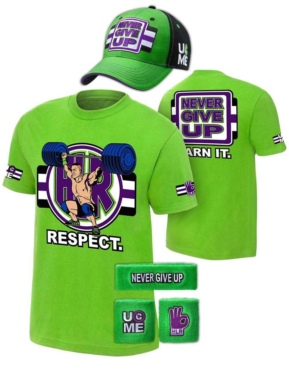 John Cena Cenation Respect Green Boys Kids Costume Hat T ... Respect Hat Kid