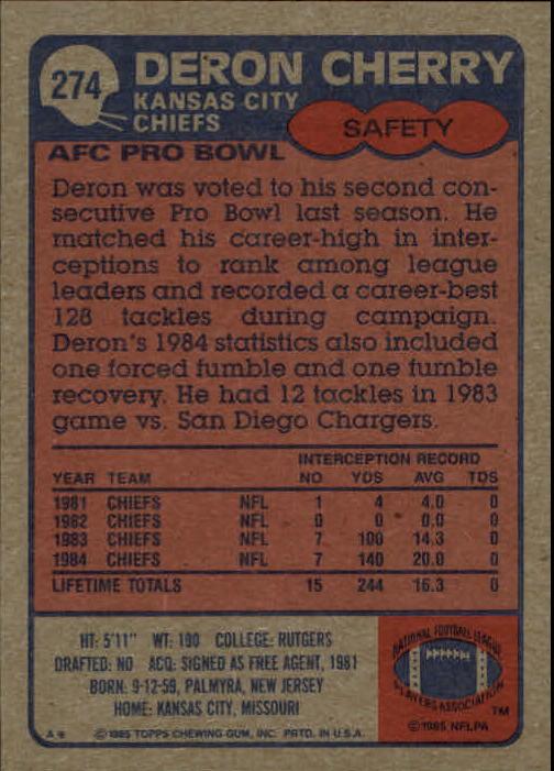1985-Topps-Futbol-Tarjeta-Recoger-274-396 miniatura 3
