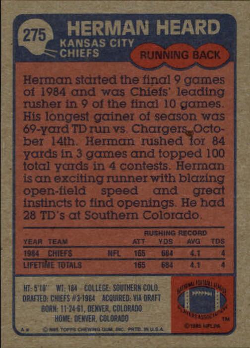 1985-Topps-Futbol-Tarjeta-Recoger-274-396 miniatura 5