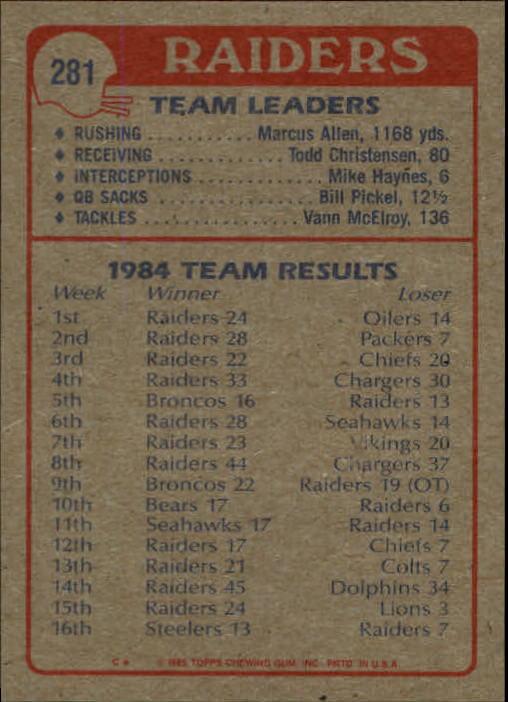 1985-Topps-Futbol-Tarjeta-Recoger-274-396 miniatura 15