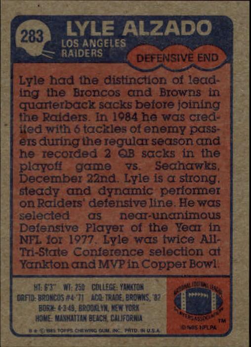 1985-Topps-Football-Card-Pick-274-396 thumbnail 19
