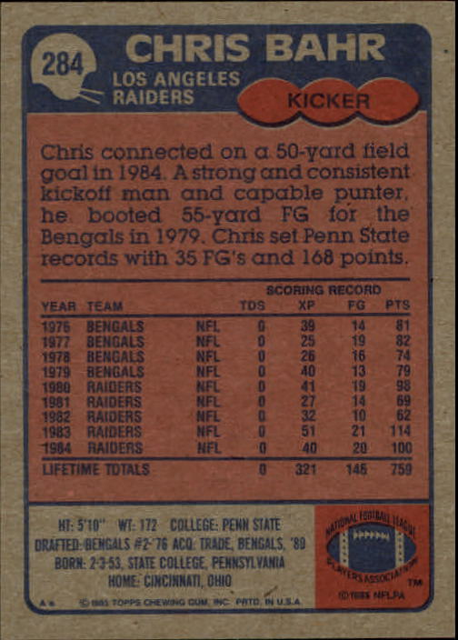 1985-Topps-Futbol-Tarjeta-Recoger-274-396 miniatura 21