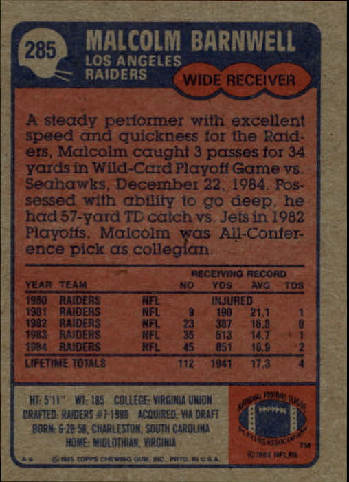 1985-Topps-Football-Card-Pick-274-396 thumbnail 23