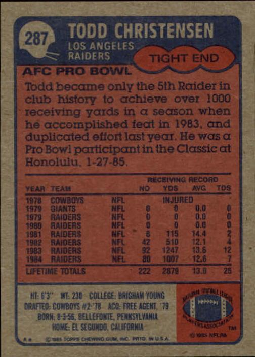 1985-Topps-Futbol-Tarjeta-Recoger-274-396 miniatura 27