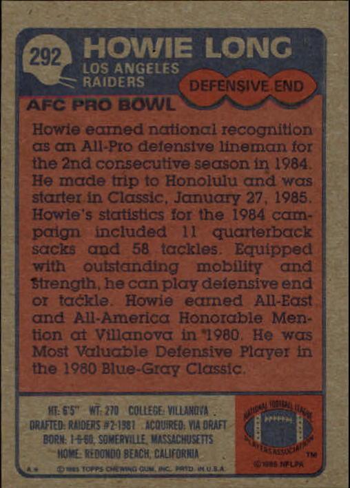 1985-Topps-Futbol-Tarjeta-Recoger-274-396 miniatura 31
