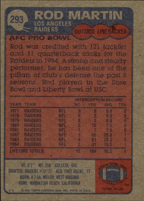 1985-Topps-Futbol-Tarjeta-Recoger-274-396 miniatura 33
