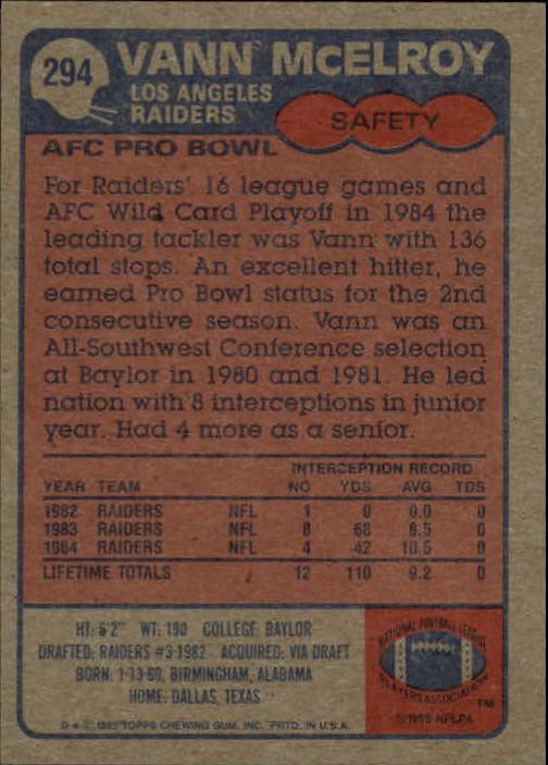 1985-Topps-Futbol-Tarjeta-Recoger-274-396 miniatura 35