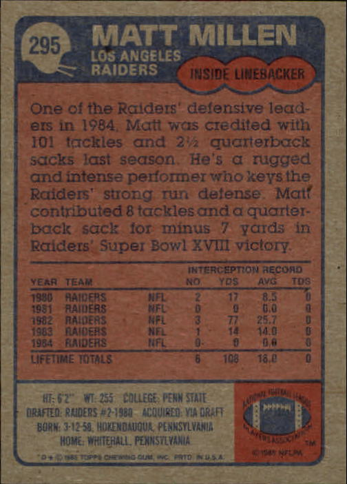1985-Topps-Football-Card-Pick-274-396 thumbnail 37