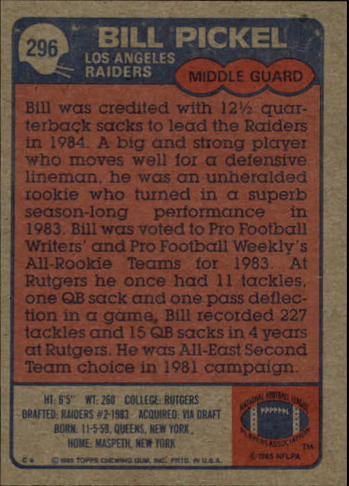 1985-Topps-Futbol-Tarjeta-Recoger-274-396 miniatura 39