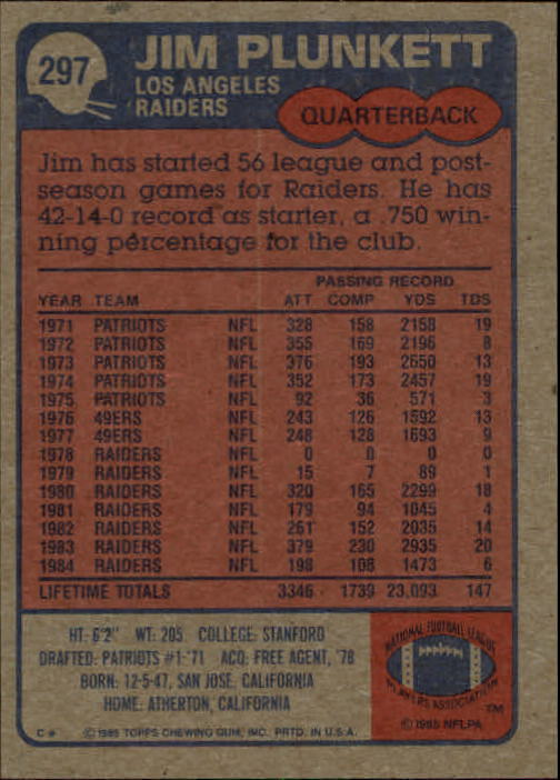 1985-Topps-Futbol-Tarjeta-Recoger-274-396 miniatura 41