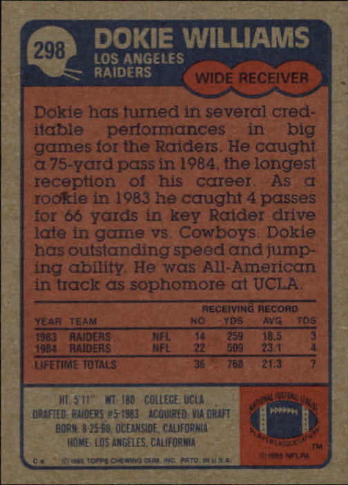 1985-Topps-Futbol-Tarjeta-Recoger-274-396 miniatura 43
