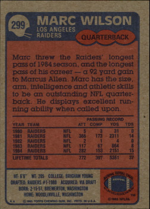 1985-Topps-Football-Card-Pick-274-396 thumbnail 45