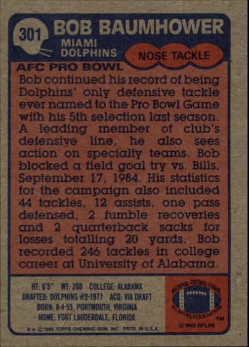1985-Topps-Futbol-Tarjeta-Recoger-274-396 miniatura 47