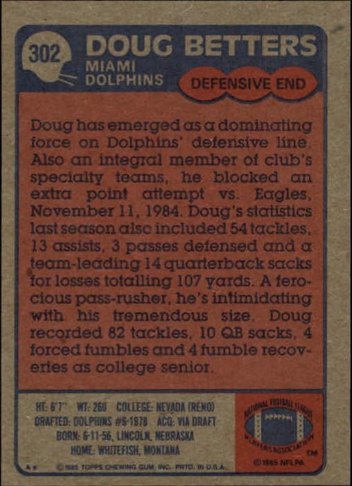 1985-Topps-Futbol-Tarjeta-Recoger-274-396 miniatura 49