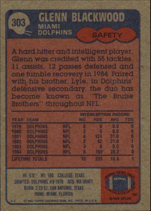1985-Topps-Futbol-Tarjeta-Recoger-274-396 miniatura 51