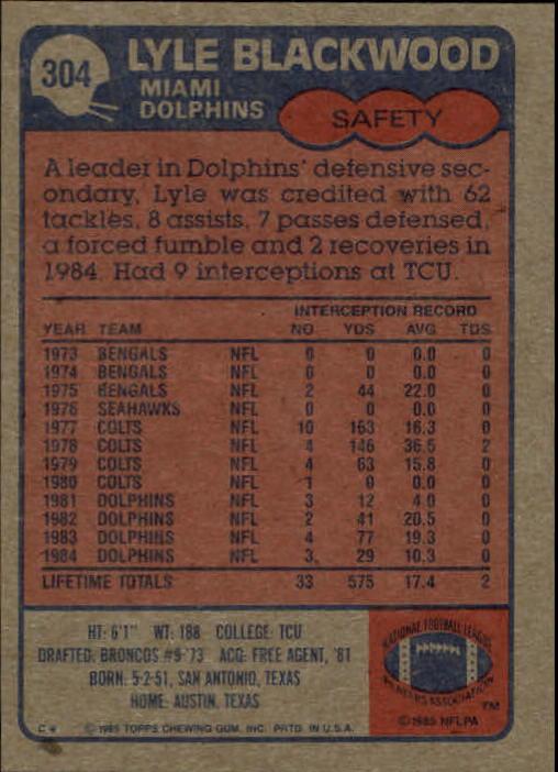 1985-Topps-Futbol-Tarjeta-Recoger-274-396 miniatura 53
