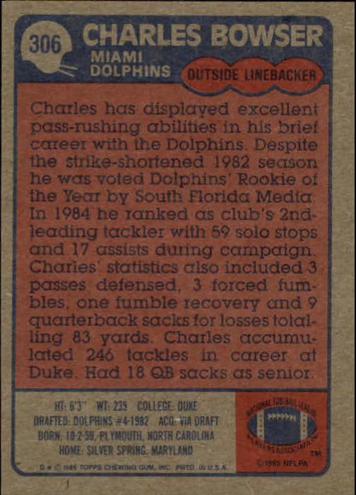 1985-Topps-Futbol-Tarjeta-Recoger-274-396 miniatura 57